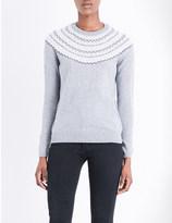 The White Company Fair-Isle wool-blend knitted jumper