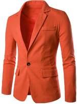 CFD Mens One Button Slim Fit Stylish Blazer Coats Jackets US M