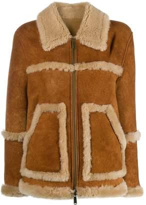 DSQUARED2 shearling-trimmed jacket