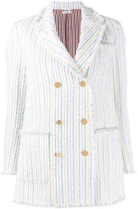 Thom Browne Double-Breasted Striped Blazer
