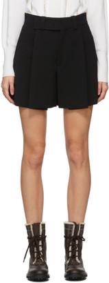 Chloé Black Crepe Shorts