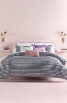 Kate Spade scallop row comforter & sham set