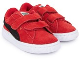 Puma Red Velcro Suede Trainers