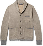 Alex Mill Contrast-trimmed Shawl-collar Loopback Cotton Cardigan - Sand