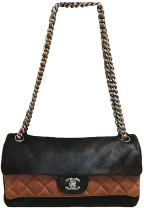 Chanel Timeless/Classique Black Pony-style calfskin Handbags