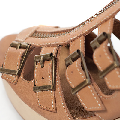 Twelfth St. By Cynthia Vincent by Cynthia Vincent Luella Wedge Sandals in Nude