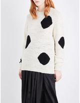 The Elder Statesman Dot-pattern knitted jumper