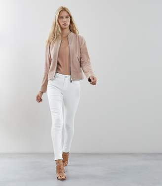 Reiss Order By 16th December For Christmas Delivery ARIES SUEDE JACKET Neutral