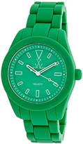 Toy Watch Unisex Quartz Watch with Green Dial Analogue Display and Green Plastic Strap 0.94.0023