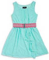 Ally B Girls 7-16 Girls Belted Chiffon Dress