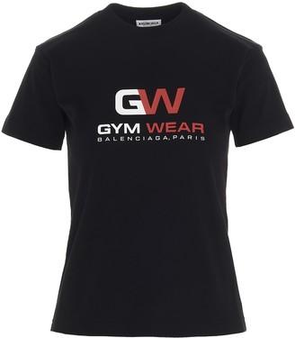 Balenciaga Gym Wear Print T-Shirt