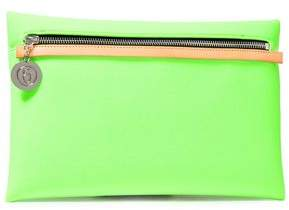 MM6 MAISON MARGIELA Leather-trimmed Neon Neoprene Clutch