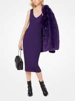 MICHAEL Michael Kors Ribbed V-Neck Sweater Dress