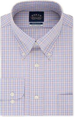 Eagle Men Slim-Fit Non-Iron Flex Collar Check Dress Shirt