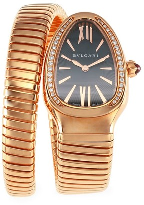 Bvlgari Serpenti Tubogas Rose Gold & Diamond Single Twist Watch