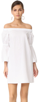 Tibi Poplin Lantern Sleeve Dress