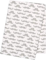 Trend Lab 48'' x 48'' Mustaches Flannel Swaddle Blanket
