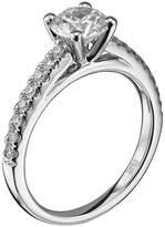 "Scott Kay Radiance"" Semi Mount Diamond Engagement Ring Palladium (1/4 cttw)"