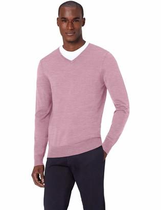 Amazon Brand - MERAKI Men's Fine Merino Wool V-Neck Jumper