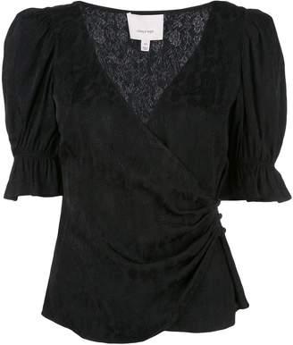 Cinq à Sept wrap front blouse