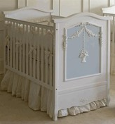 The Well Appointed House French Crib with Hanging Basket with Blue Panel