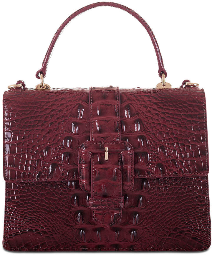 Brahmin Francine Melbourne Embossed Leather Mini Satchel