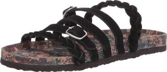 Muk Luks Women's Terri Terra Turf-Black Sandal 9 M US