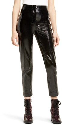 Leith Straight Leg Faux Leather Pants