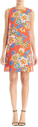 Carolina Herrera Floral Sleeveless Shift Dress