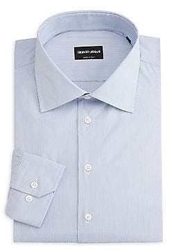 Giorgio Armani Men's Micro-Stripe Cotton Shirt