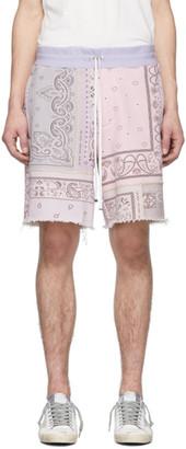 Amiri Purple Bandana Reconstructed Shorts