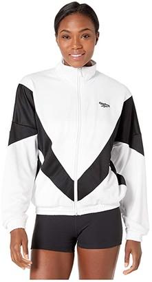 Reebok CL V Track Top (White) Women's Coat
