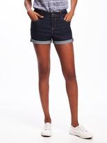 "Old Navy Mid-Rise Rockstar Denim Shorts for Women (3 1/2"")"
