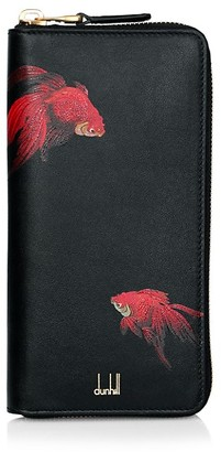 Dunhill Goldfish-Print Leather Wallet