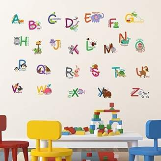 +Hotel by K-bros&Co Walplus Wall Stickers Fauna Animal Alphabet Removable Self-Adhesive Art Decal Murals Nursery Restaurant Cafe Hotel Building Office Home Decoration