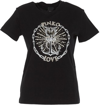Pinko Love Anchor Embroidered T-Shirt