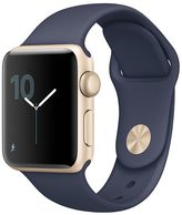 Apple Watch Series 2 (42mm Gold Tone Aluminum with Midnight Blue Sport Band)