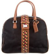 Diane von Furstenberg Leather-Trimmed Weekender Bag