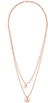 Ileana Makri I AM BY Peace Snake Pendant Necklace