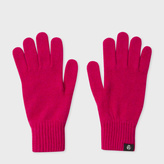 Paul Smith Women's Fuchsia Lambswool Gloves