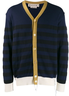 Marni striped V-neck cardigan
