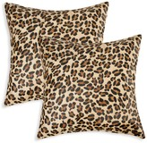 Torino 2-Pack Togo Square Leopard-Print Cowhide Pillow Set