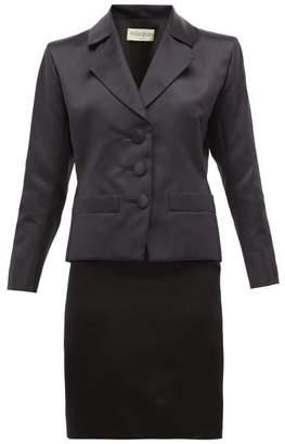 Couture William Vintage - Ysl Haute Satin Skirt And Blazer - Womens - Black