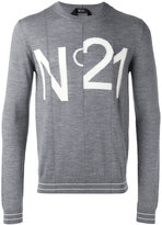 No.21 logo pattern jumper - men - Virgin Wool - S