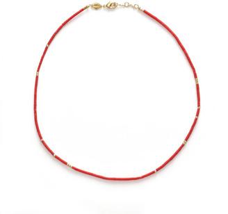 Anni Lu Women's Sun Stalker Necklace - Sangria