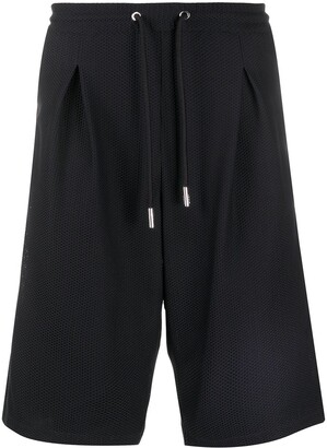 Giorgio Armani Inverted-Pleat Mesh Shorts