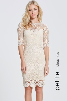 Paper Dolls Cream Crochet Lace 3/4 Sleeve Dress