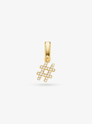 Michael Kors 14K Gold-Plated Sterling Silver Pave Number Sign Charm