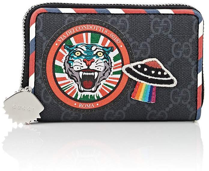 Gucci Men's Coated Canvas Zip-Around Card Case