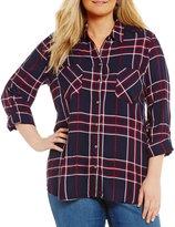 Westbound Plus Two-Pocket Boyfriend Shirt